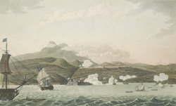 S. W. View of Forts Bourbon & Louis, in the Islands of Martinique
